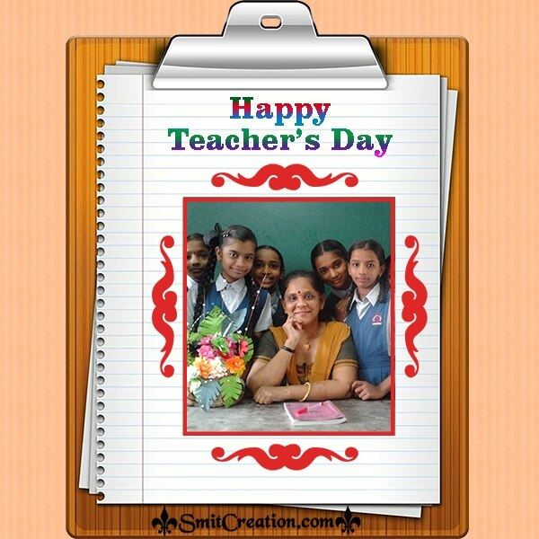 Teachers Day Writing Pad Photo Frame