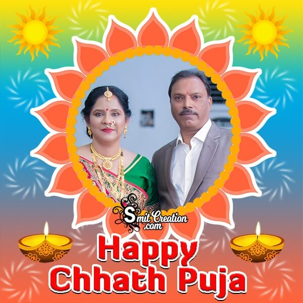 Chhath Puja Colourful Photo Frame