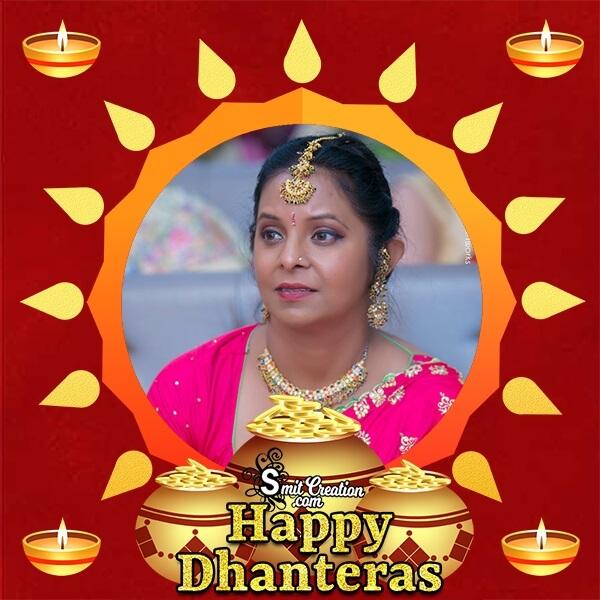 Dhanteras Gold Pots Photo Frame