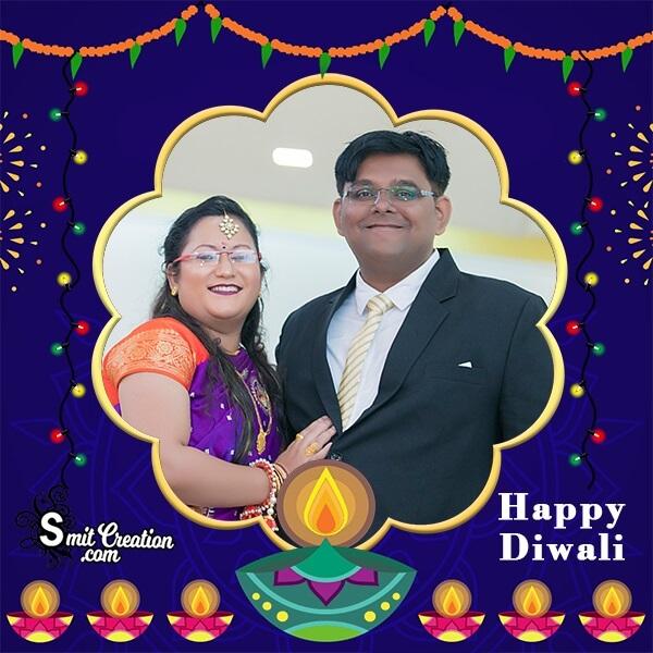 Diwali Diyas Photo Frame