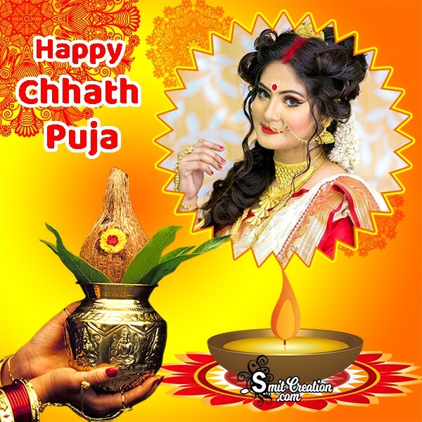 Happy Chhath Pooja Photo Frame