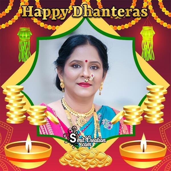 Happy Dhanteras Gold Photo Frame