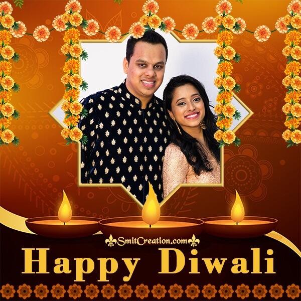 Happy Diwali Decoration Photo Frame