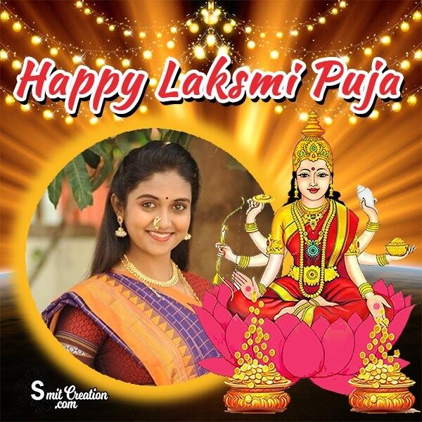 Happy Lashmi Puja Devi Photo Frame