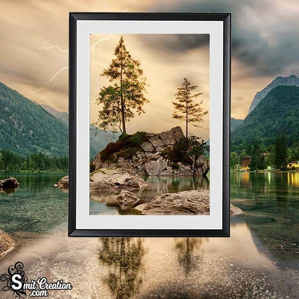 Lake Nature Photo Frame