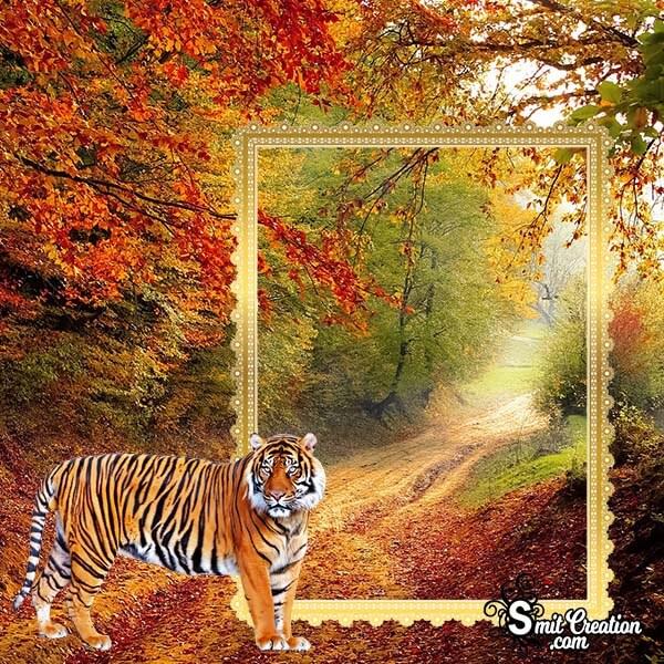 Nature Tiger Photo Frame