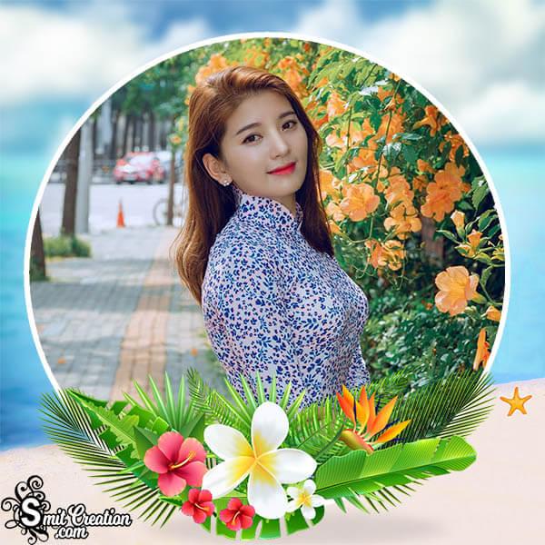 Summer Flowers Photo Frame