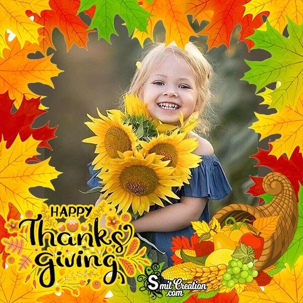 Thanksgiving Leaves Photo Frame