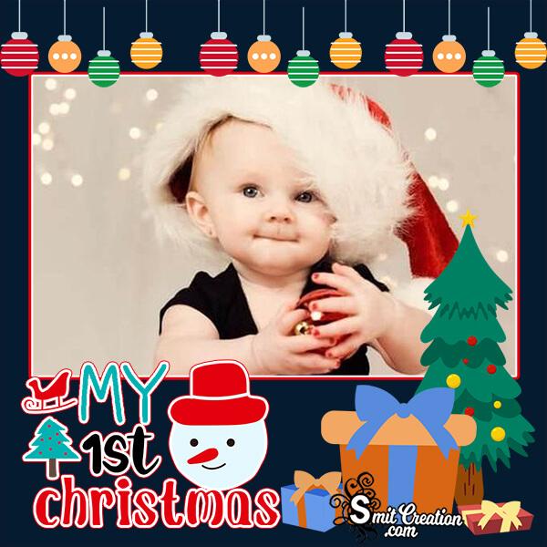 1st Christmas Photo Frame