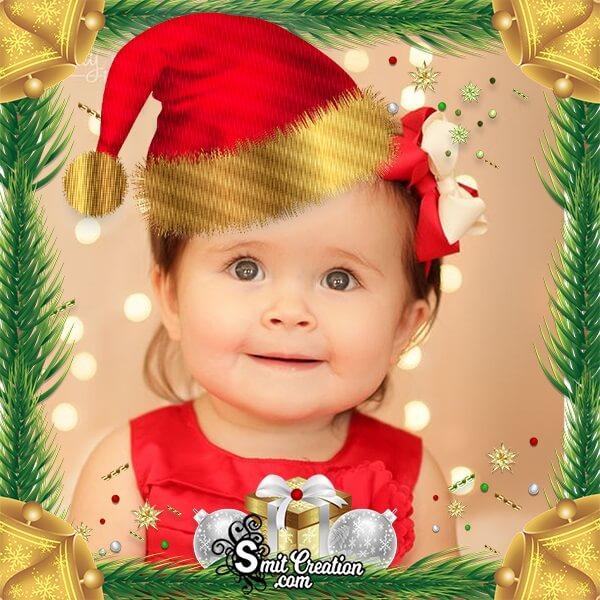 Christmas Santaclaus Cap Photo Frame