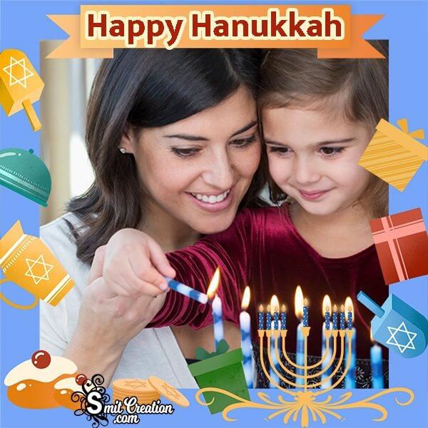 Happy Hanukkah Gift Box Photo Frame