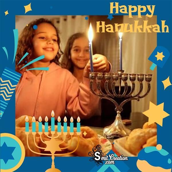 Happy Hanukkah Photo Frame