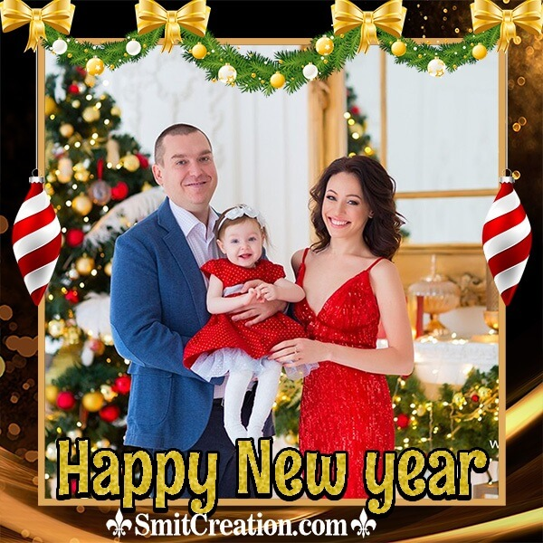 Happy New Year Elegant Photo Frame