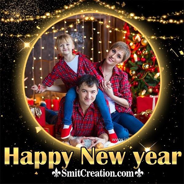 Happy New Year Lighting Photo Frame