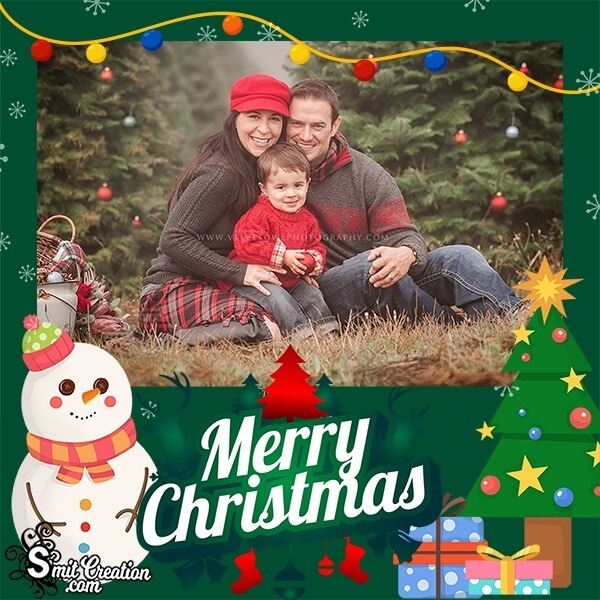 Merry Christmas Decoration Photo Frame
