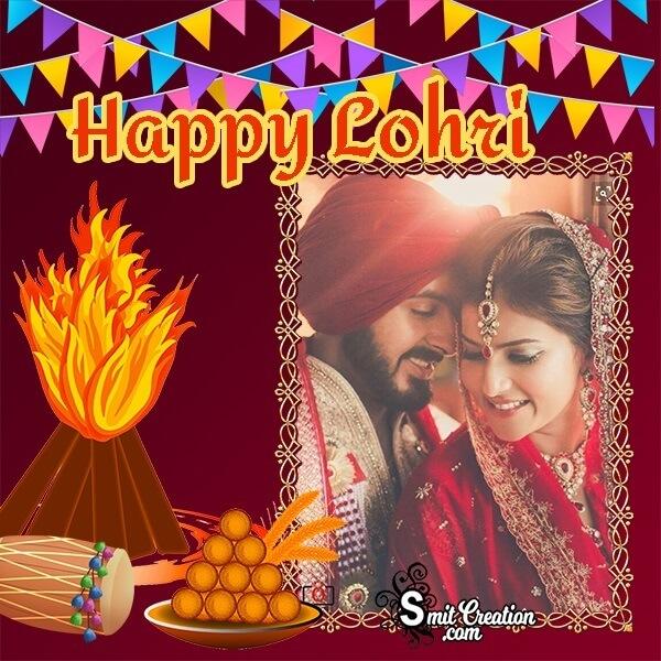 Happy Lohri Bonfire Photo Frame