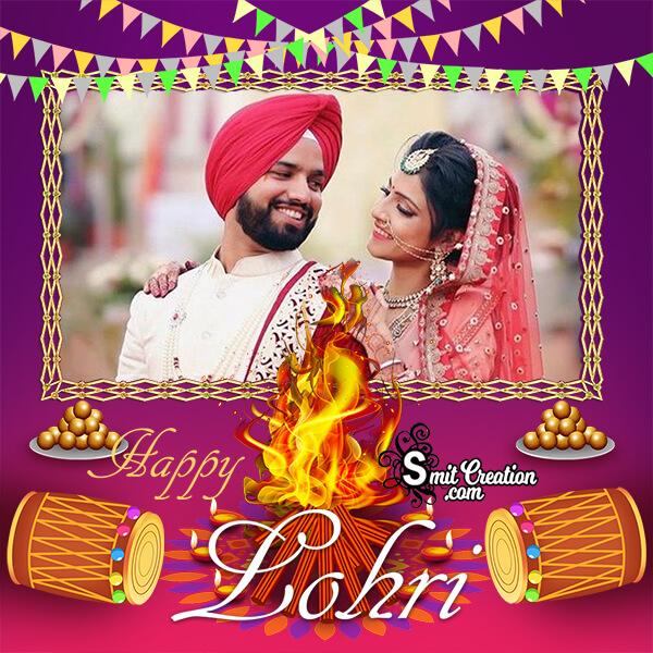 Happy Lohri Celebration Photo Frame