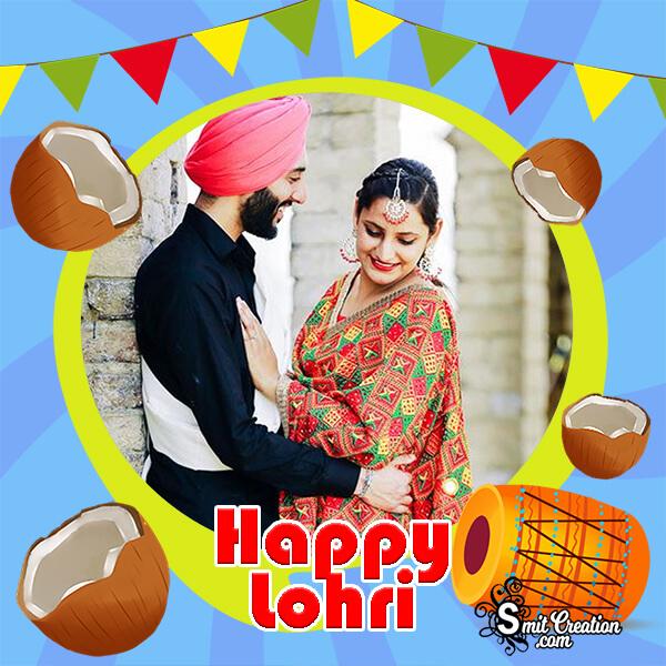 Happy Lohri Festival Photo Frame
