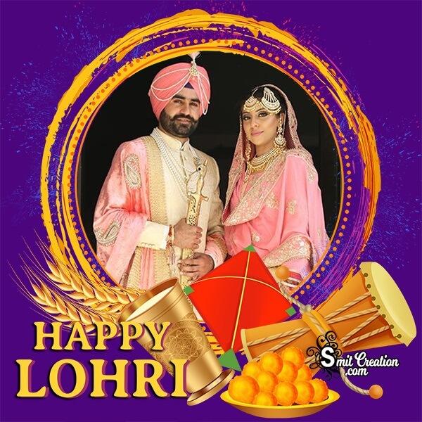 Happy Lohri Wishes Photo Frame