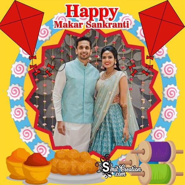 Happy Makar Sankranti Festival Photo Frame