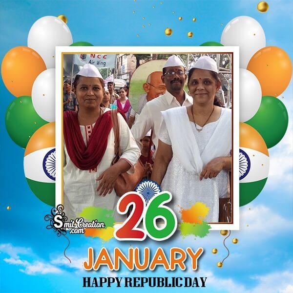 Republic Day Balloons Photo Frame