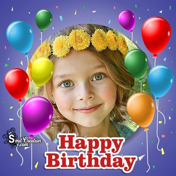 Happy Birthday Balloons Photo Frame