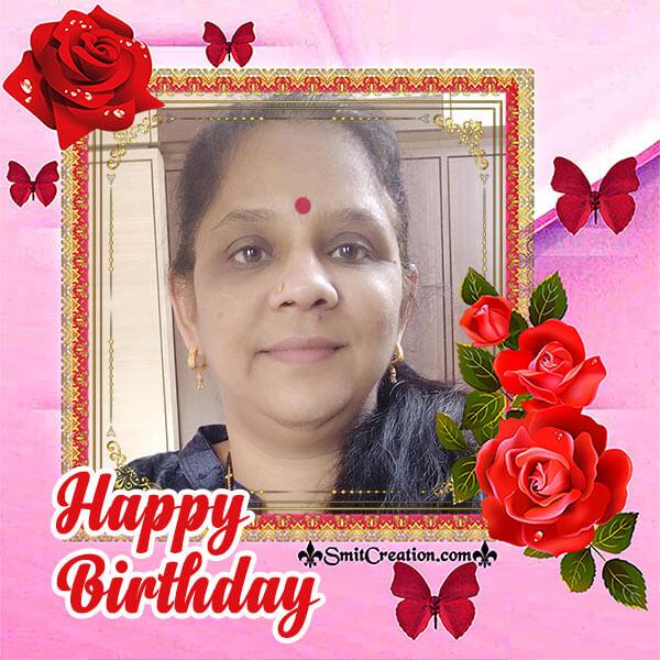 Happy Birthday Rose Photo Frame