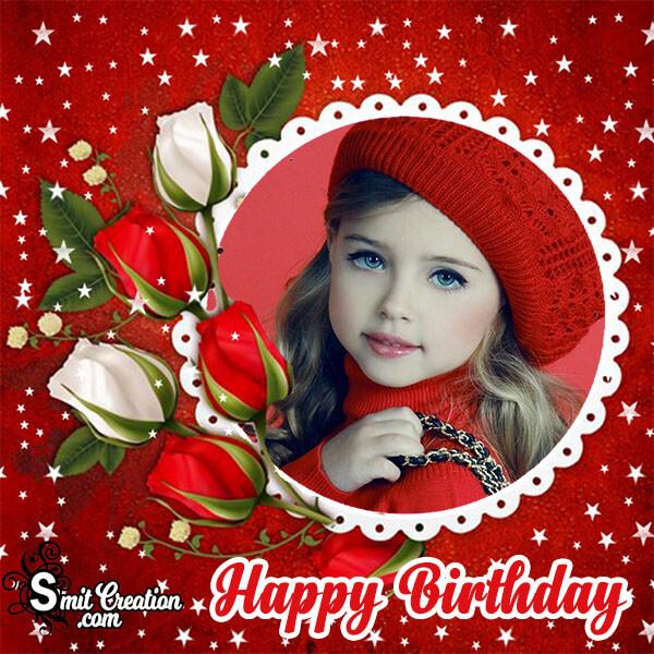 Happy Birthday Roses Photo Frame