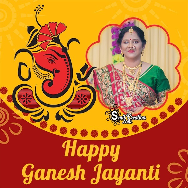 Happy Ganesh Jayanti Creative Photo Frame