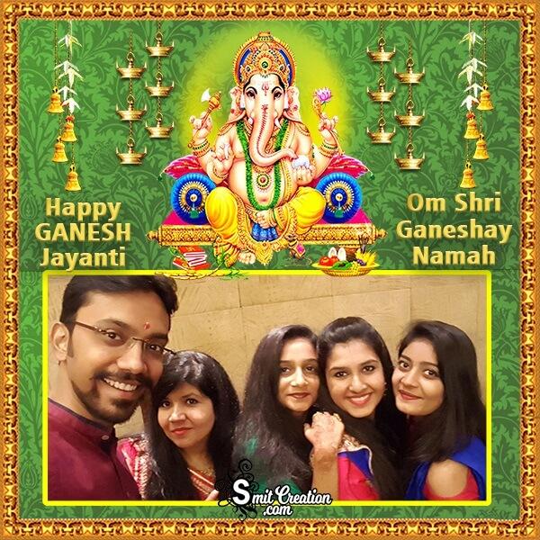 Happy Ganesh Jayanti Family Photo Frame