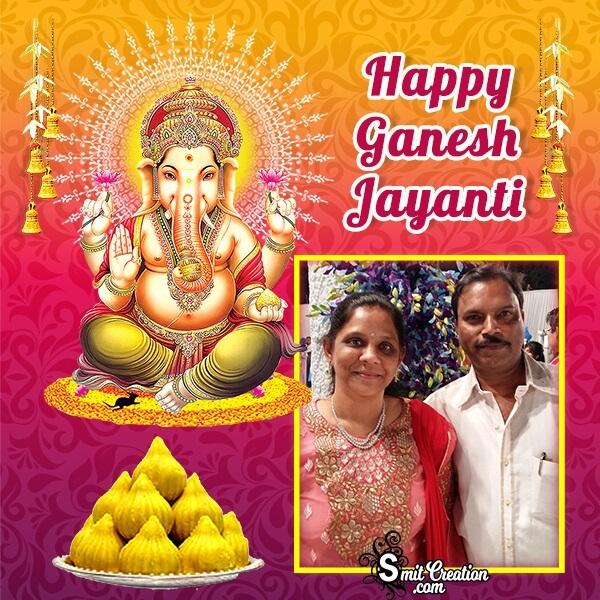 Happy Ganesh Jayanti Modak Photo Frame