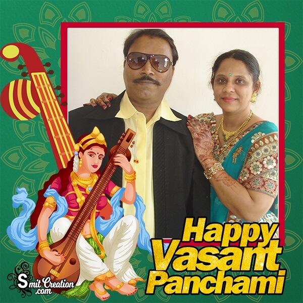 Happy Vasant Panchami Photo Frame For Dp