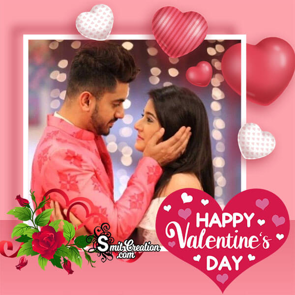 Valentines Day Pink Photo Frame