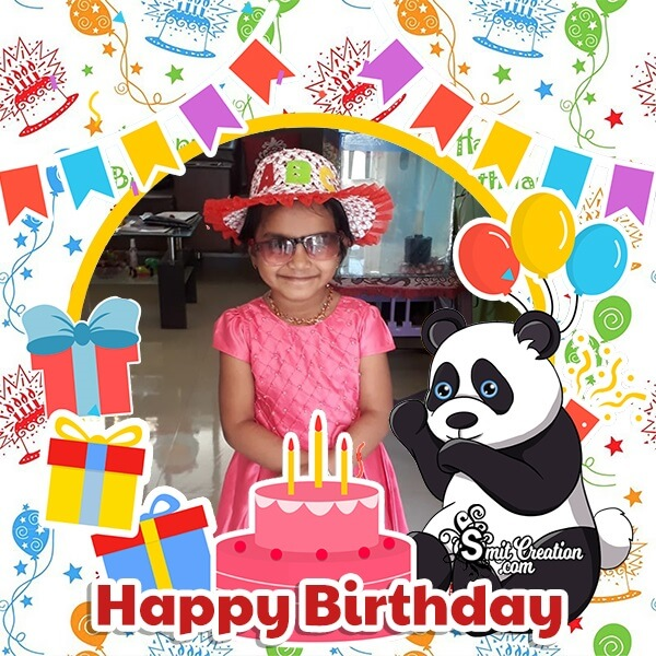 Cartoon Panda Birthday Photo Frame