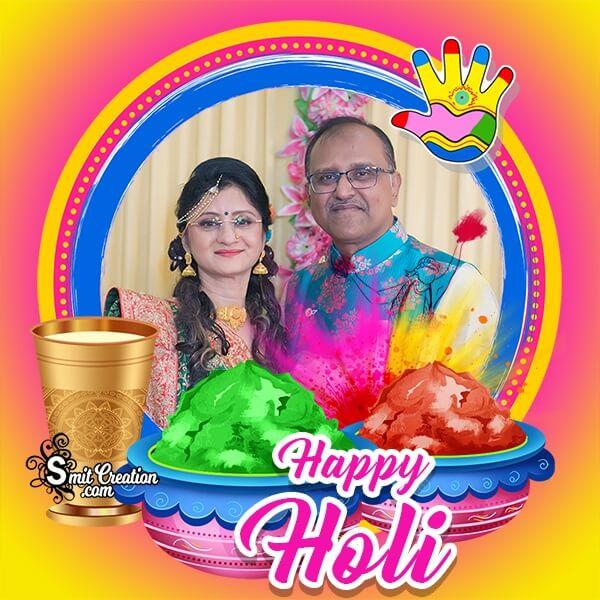Happy Holi Celebration Photo Frame