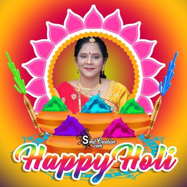Happy Holi Colour Photo Frame