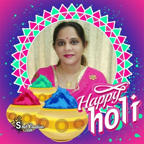 Happy Holi Festive Photo Frame
