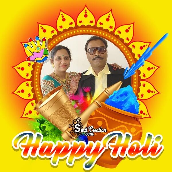 Happy Holi Sunny Photo Frame