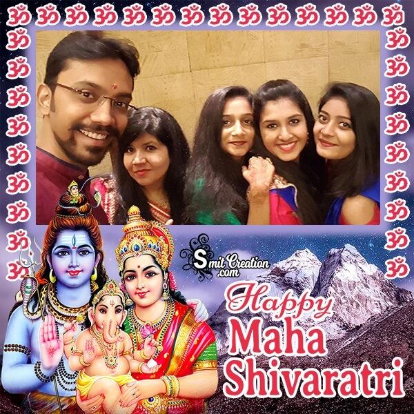Happy Maha Shivratri Family Photo Frame
