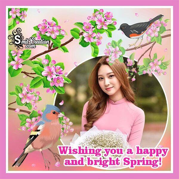 Happy Spring Wish Photo Frame