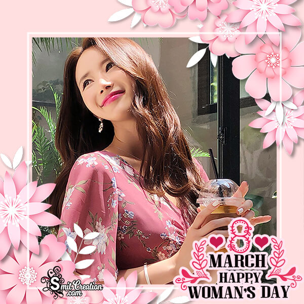 Happy Womens Day Floral Photo Frame