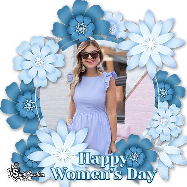 Happy Womens Day Flowers Photo Frame
