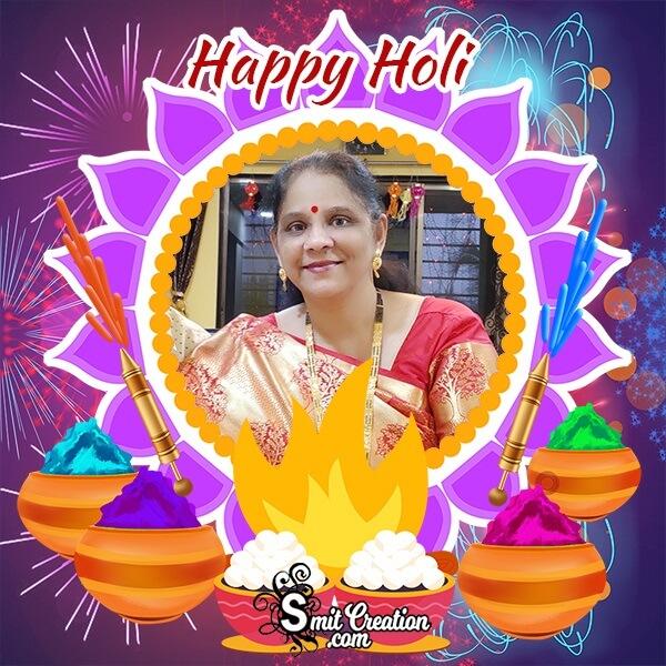 Holi Festival Photo Frame