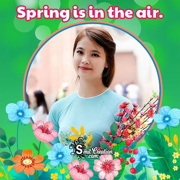Spring Quote Photo Frame