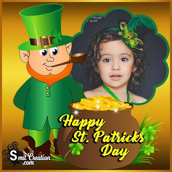 St Patricks Day Gold Pot Photo Frame