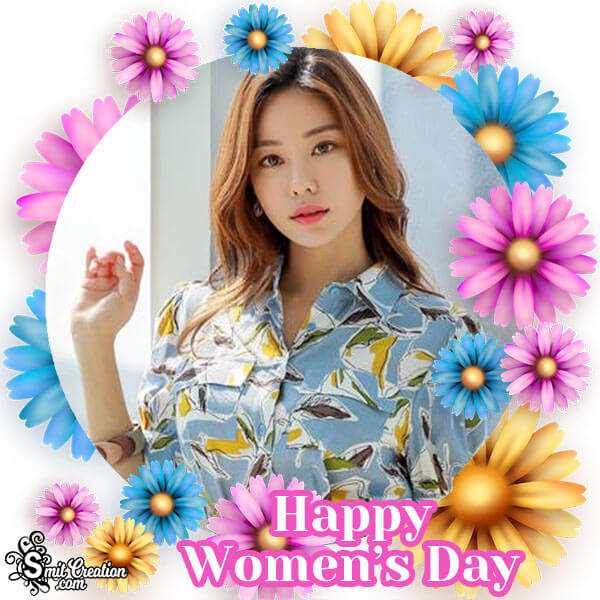 Womens Day Colourful Flowers Photo Frame