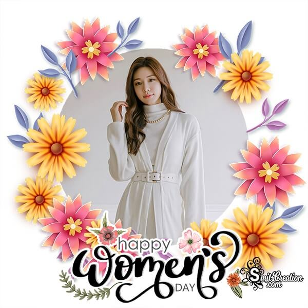 Womens Day Floral Photo Frame