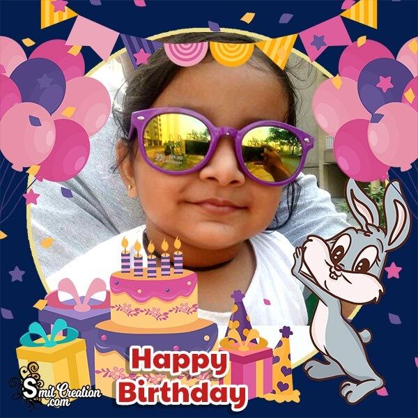 Bunny Birthday Photo Frame