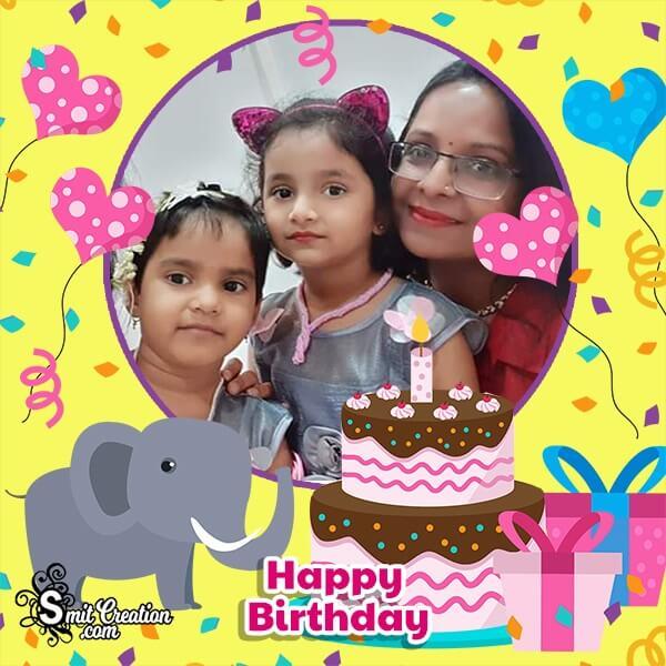 Elephant Birthday Photo Frame