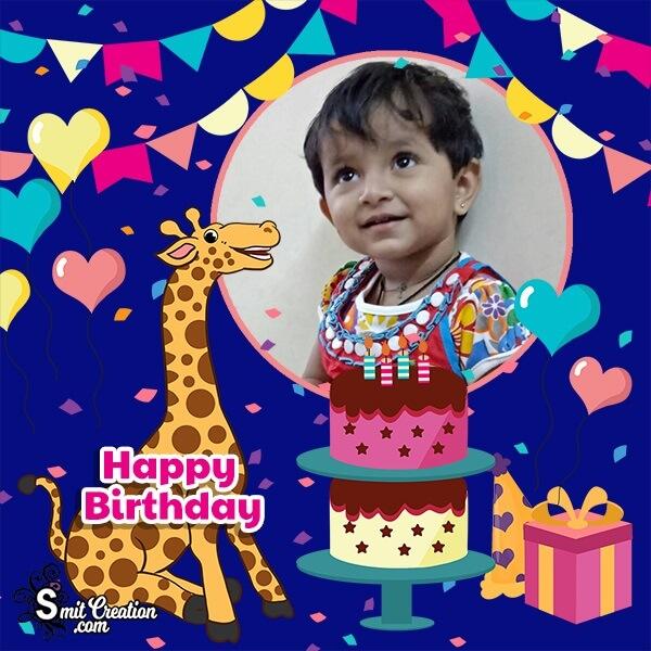 Giraffe Birthday Photo Frame